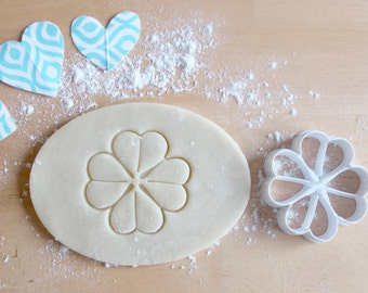 St. Patrick's Day 4 Leaf Clover 3D Printed Cookie Cutter