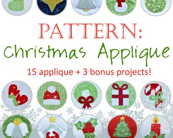 Pattern: Christmas Applique for Quilt and Sewing