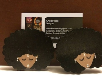 Natural Curly Girl Earrings (Tribal Edition)