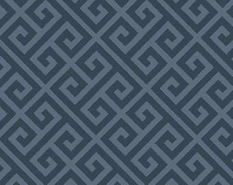 Greeka Skouro -  Art Gallery Fabric Skopelos - SK-34608 - Navy Geometric Navy Greek Fabric