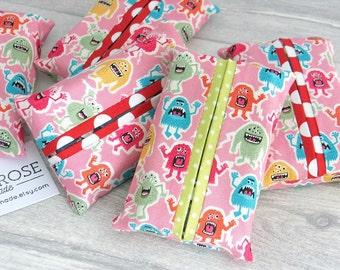 Pocket Tissue Cover / Travel Tissue Cover / Kleenex Tissue Cover/ Wedding Favor / Christmas Gift For Her / Stocking Stuffer /Stocking Filler