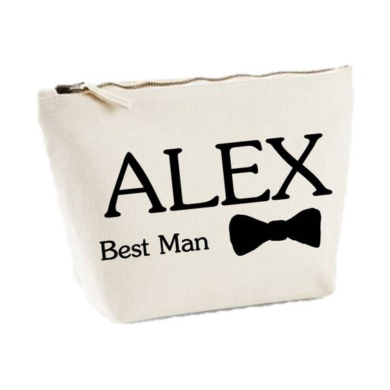 Personalised Wedding Gifts Best Man : Personalised Best Man Name With Bowtie Wedding Party Gift Mens Canvas ...