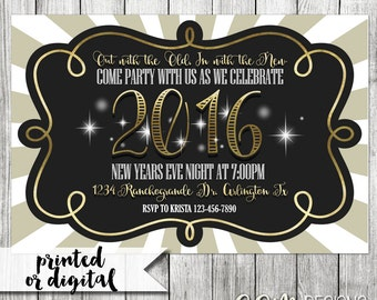 New Years Eve Invitation, New Years Eve Party Invitation, NYE invitation, New Years Eve Party, NYE Party, New Years Invitation,