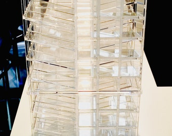 Acrylic makeup organizer Spinning Lipstick Tower storage