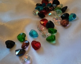 Glass Crystal Hearts!
