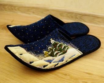 CHRISTMAS/ Quilt / Patchwork Handmade slippers