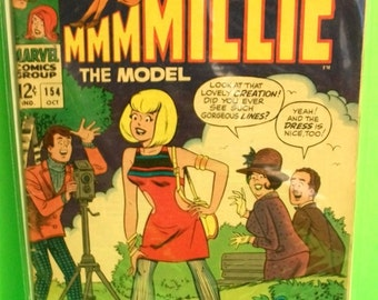 1967 Millie The Model #154 October 1st New Look Marvel Comics Fair to Good Vintage Romance Comic Book