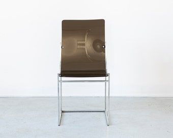 Black Lucite Side Chair