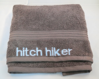 Hitch Hiker embroidered hand towel