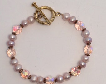 Pink Pearl Healing bracelet. Innocence and Purity of Heart