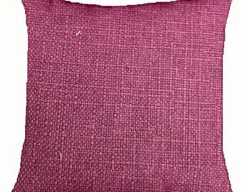 """Decorative Pillow Cover 20"""" X 20""""  with Zipper Fuscia"""