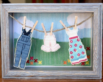 Oh You Pretty Things : Well Loved Wear Cross Stitch Pattern