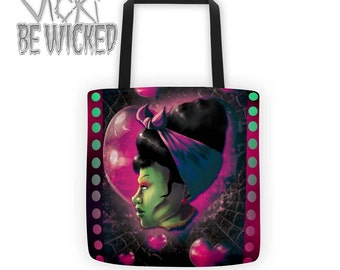 Zombie Rockabilly, Ghoul Girl, Pinup Monster Tote Bag