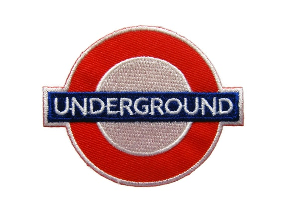Underground london embroidered applique iron on patch by
