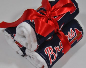 Atlanta Braves Burp Cloths