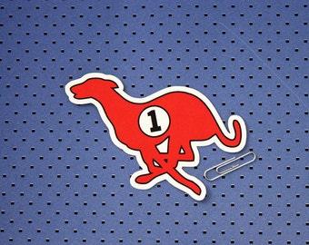 Running Greyhound Bumper Sticker