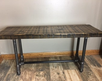 Reclaimed Urban Wood Bench Made From Salvaged Barn Wood - Fast Shipping