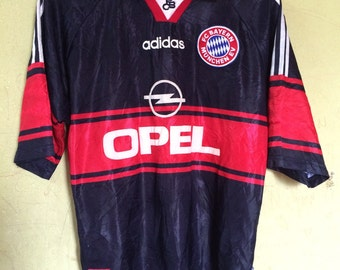 Vintage 90s BAYERN MUNCHEN adidas player issue #6 ELBER Jersey made in England