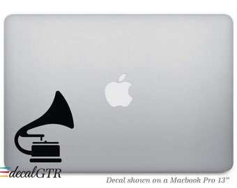 Music Player Macbook Decal - Vinyl Sticker - Music Laptop Notebook Macbook Air Pro Car Skin - Removable  - G054