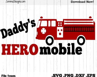 fireman svg - firefighter svg - svg files -  fire truck svg -  files .DXF .SVG, .PNG Silhouette studio - cutting file - commercial use svg