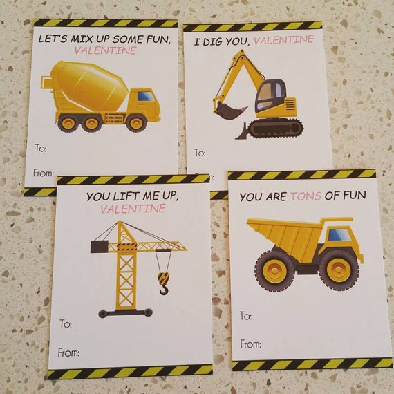 Tractor Valentine Cards : Items similar to construction tractors trucks