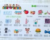 August Wacky & Random Holidays (Set of 16) Item #260