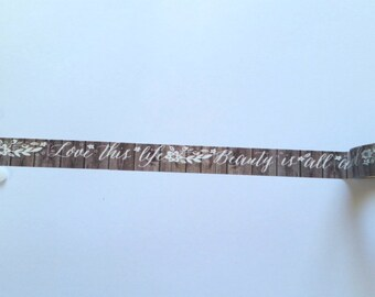 Wooden Quotes Washi Tape // Samples // Item #WT011