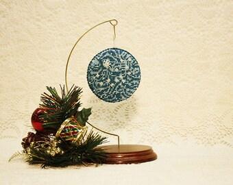 Hand Beaded Ornaments, Xmas Ornaments, Christmas Ornaments, Handstitched Ornaments, Beaded Ornaments, Blue Xmas Ornaments, Pearl Ornaments