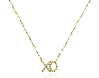 Sterling Silver XO Pendant Necklace