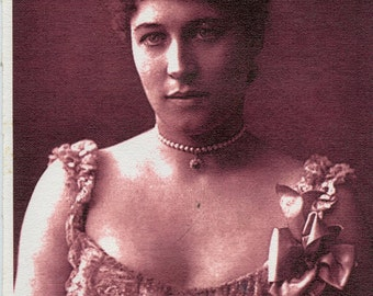 Lillie Langtry reprint photo on canvas (648)
