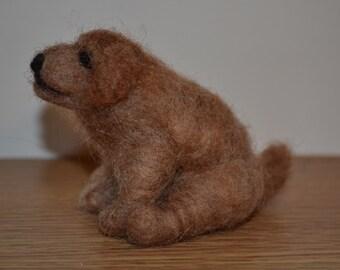 Needle felted dog  :-)