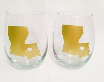 Louisiana state glasses