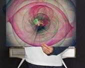 Energy Therapy | Fractal Mandelbrot Art Print , Abstract Eye Art Print | Digital Download | Birthday Gift | Eclectic Wall Decor