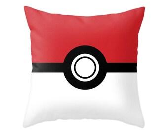 Pokemon Pillow, Poke Ball, Video Game, TV Series, Anime, Geek Games, Gamer Cushion, Children Bedroom, Kids Gift, Pikachu Monster, Pokemon Go