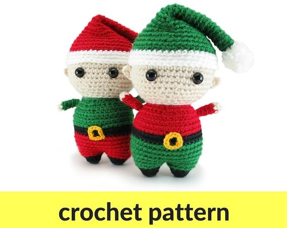 Elf amigurumi pattern Christmas crochet pattern elf crochet