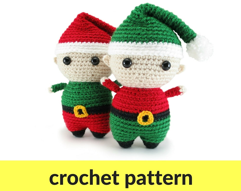 Tutorial Elfi Amigurumi : Elf amigurumi pattern Christmas crochet pattern elf crochet