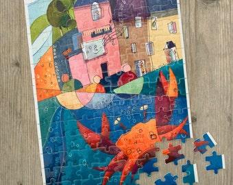 Jigsaw Puzzle - Ferry Boat Inn - Crab - Dittisham - Devon