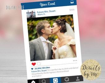 Social Media Photo prop, Wedding Photo Prop, Event Photo Prop, Bachelorette Photo Prop, Shower Photo Prop, Customized, Digital file