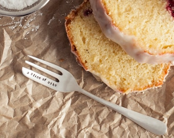 Personalised Silver Plated Cake Fork