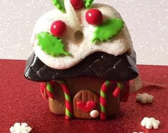 Pudding Drop Cottage Hanging Gingerbread House