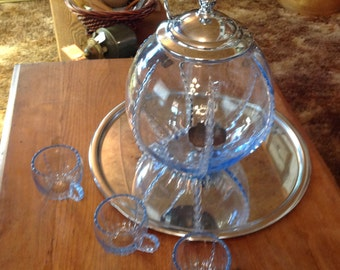 Vintage New Martinsville Radience punch bowl