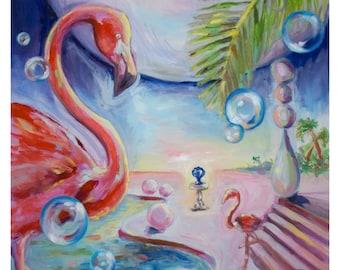 Flamingo Painting Print