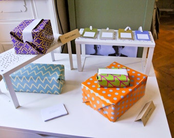Gift packaging: set of 12 papers