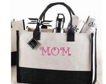 Mom Canvas tote bag – personalized  – monogram – name – mud pie
