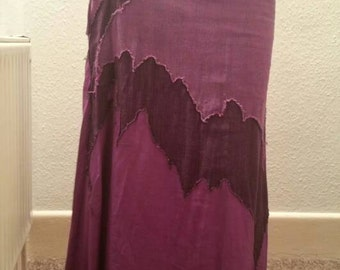 Beautiful Festival Pixie Skirt Purple with Lace Up Side
