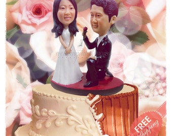 Chinese cake toppers Personalised cake topper Unique wedding cake topper Custom cake topper Bride and groom cake toppers Wedding topper gift