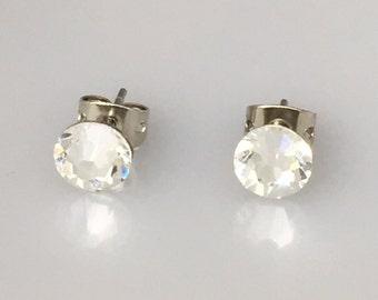 Swarovski Clear Crystal Post Earrings