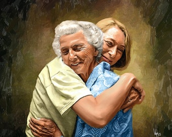 Custom Portrait portrait custom illustration family portrait portrait painting custom couple portrait wedding portrait portrait from photo