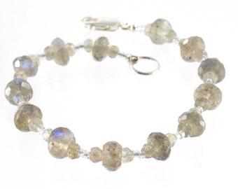 Labradorite Bracelet Sterling Silver
