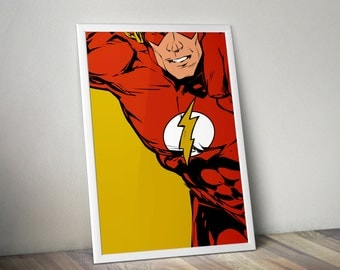 The Flash - Digitally Painted Tribute  - PRINTED - BUY 2 Get 1 FREE